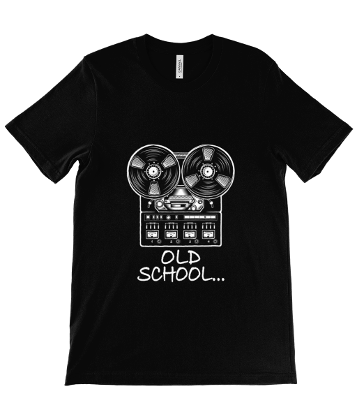 Old School - Black Canvas Unisex Tee